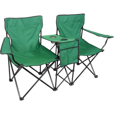 folding chair green serta warranty contact 2 seat camping chairs