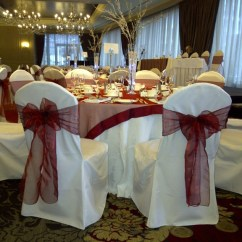Burgundy Chair Covers Wedding Steel Ergonomic Blog Chairs With Flair Part 2 Organza Sashes For A Winter