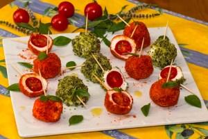 sucettes fraîches à la tomate