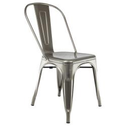 chaise industrielle en metal bistrot