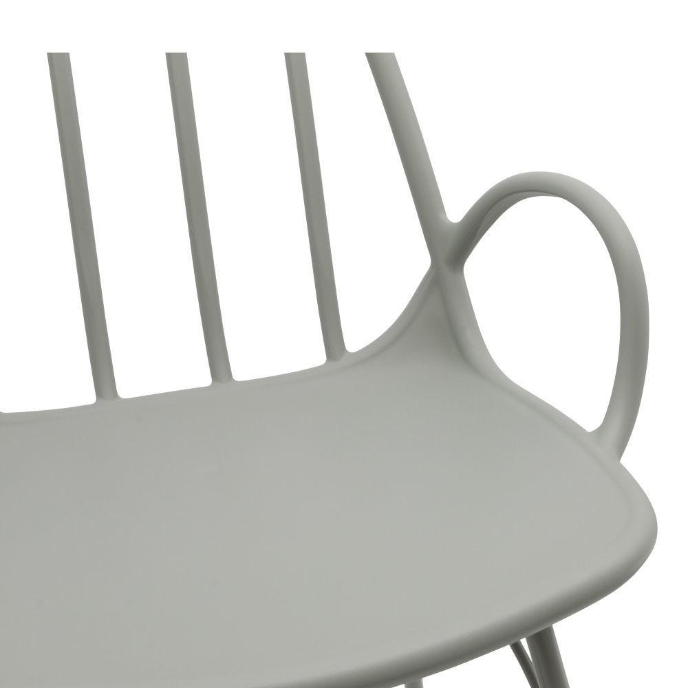 fauteuil plastique et metal sylfi