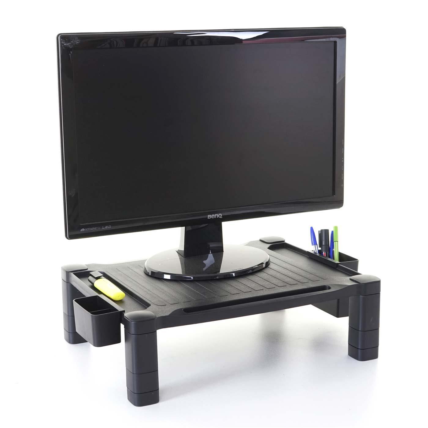 rehausseur pour ecran totem 43x33x13 cm reglable en hauteur noir