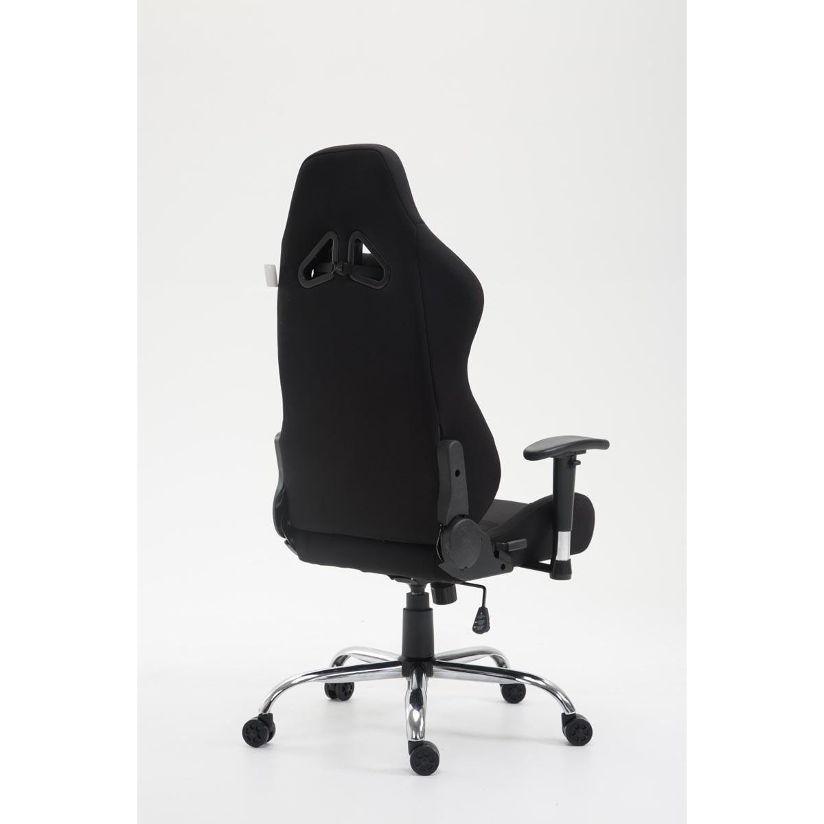 fauteuil gamer roby tissu design sportif et grand confort noir