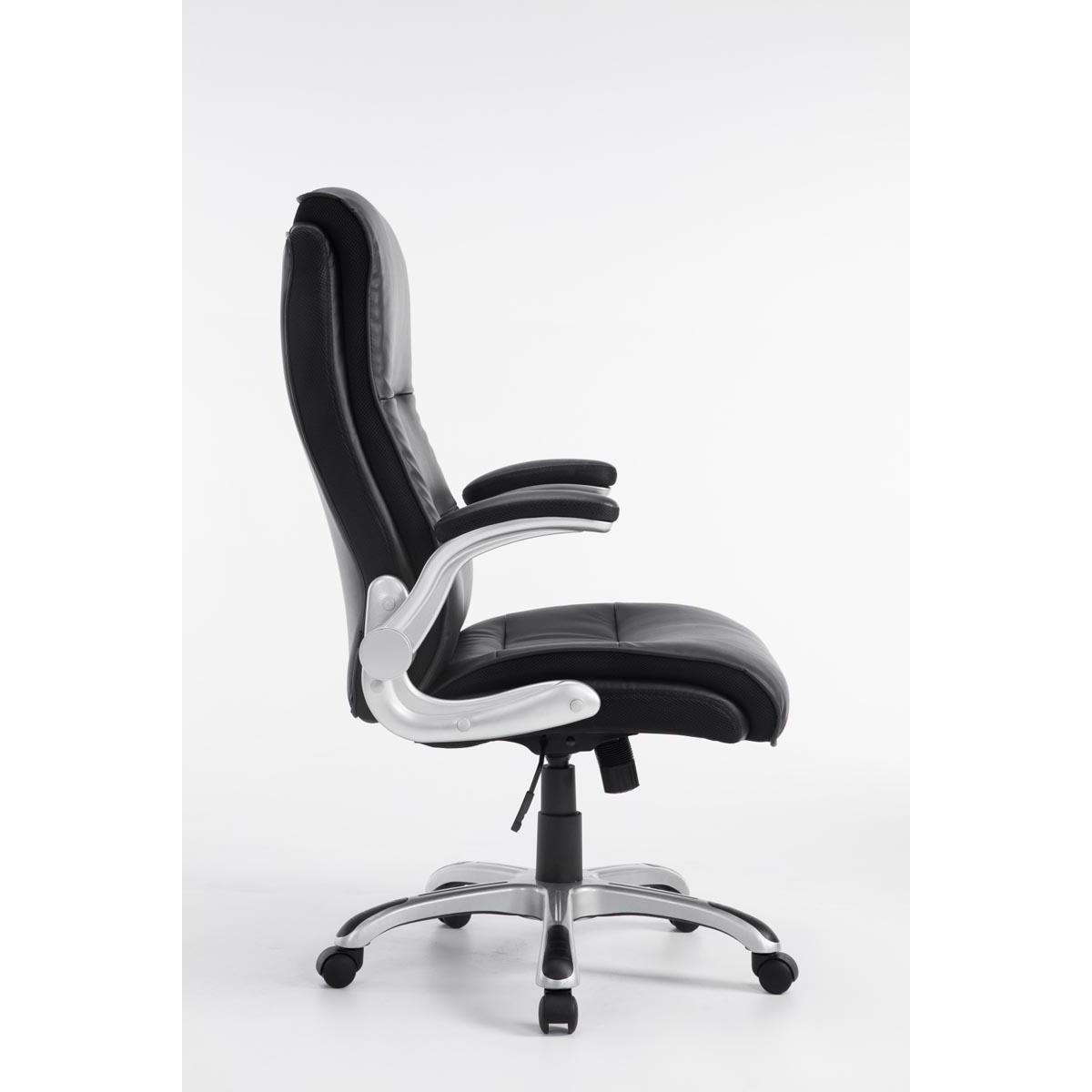 fauteuil de bureau cristiano grand rembourrage mecanisme basculant utilisation quotidienne 8h noir