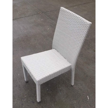 chaise de rotin synthetique fuengirola couleur blanc gris