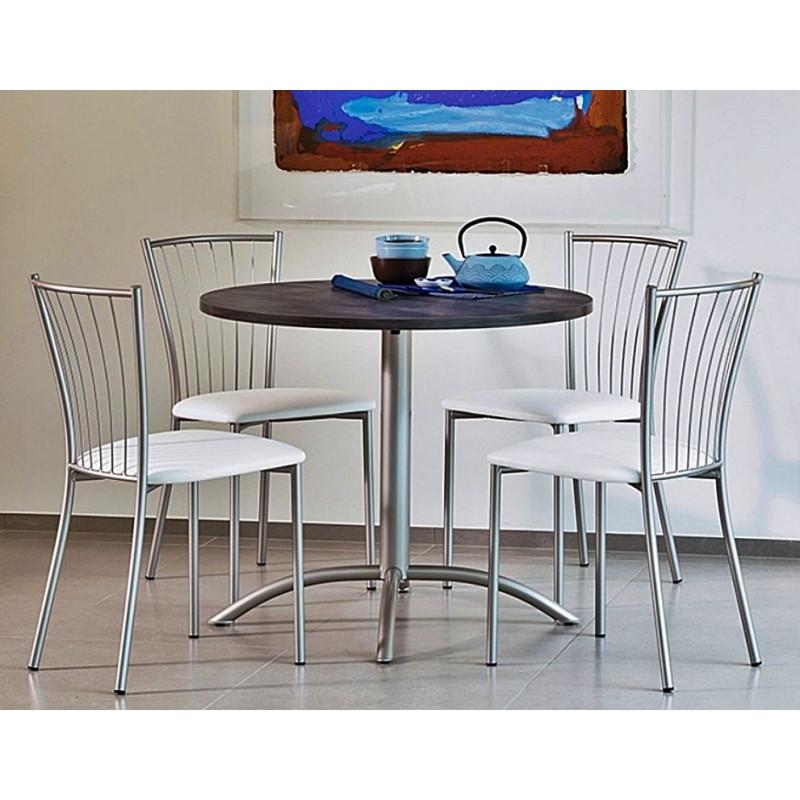 table de cuisine ronde fixe laser ht 75 cm