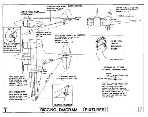 small resolution of the airspeed consul aircraft airplane engine diagram rigging diagram of aircraft
