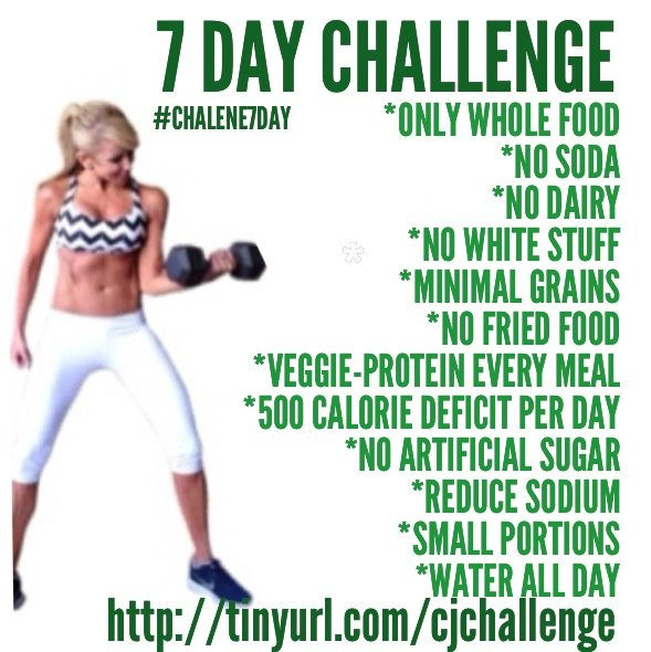 Chalene Johnson 7 Day Challenge rules