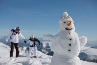 Schneemann Winter Südtirol