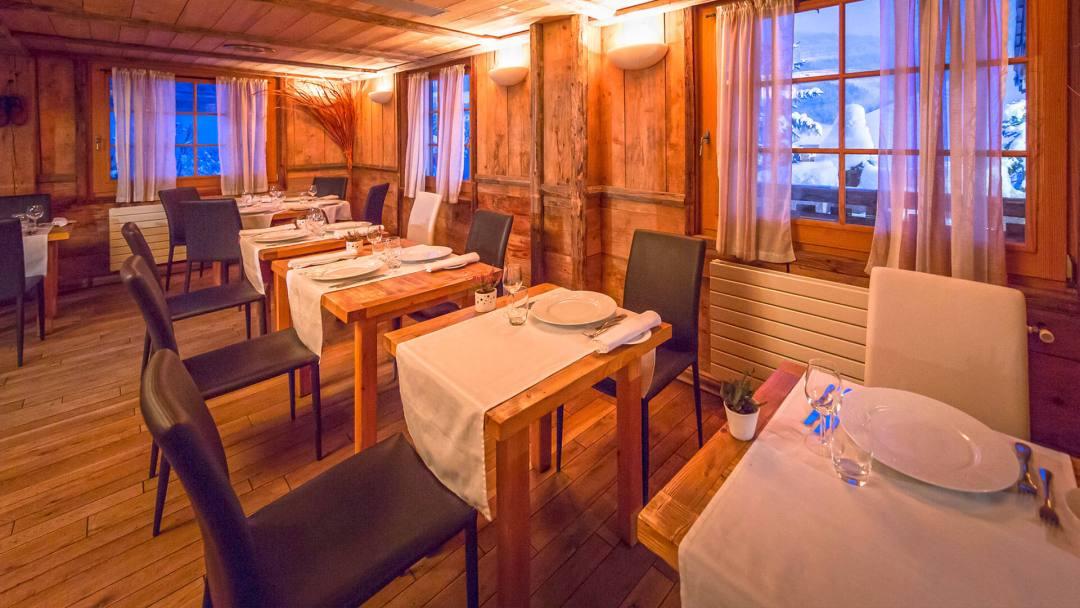 Restaurant de l'hotel Chalet Philibert Morzine