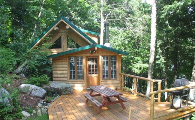 Smaller Log Cabin Lake Front St Leonard De Portneuf