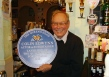 Plaque presented to honour 30 years as the landlord of the Queens Head.