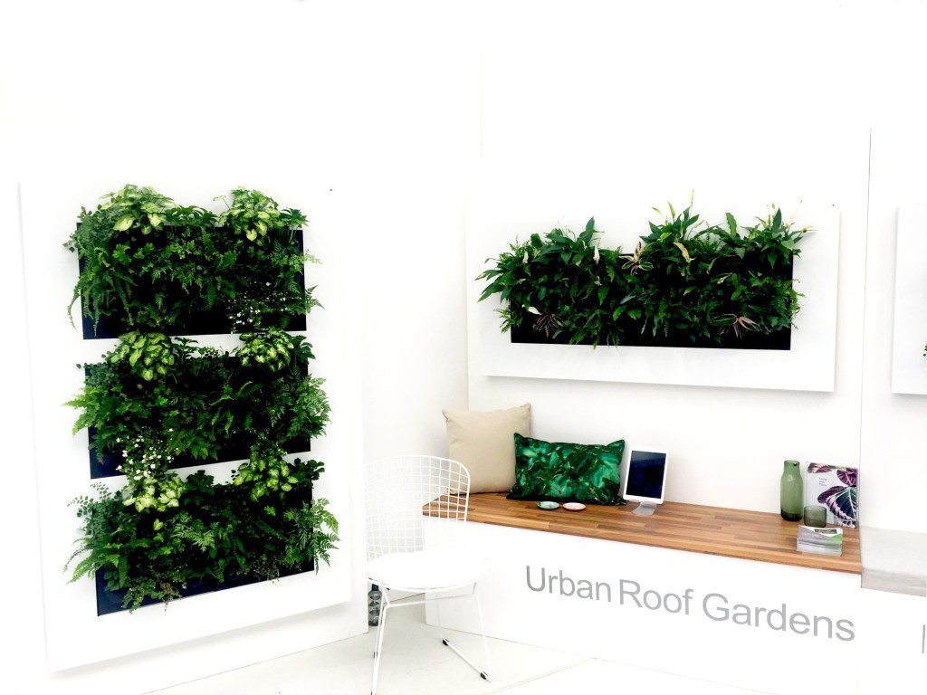 Showing at House & Garden Festival were Urban Live Picture and Urban Roof Gardens. Living green artwork, living walls.