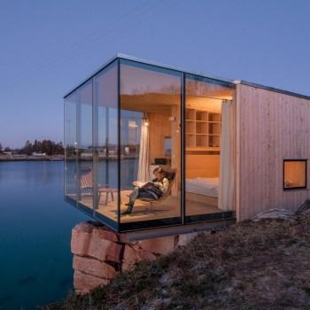 Norwegian cabin that surrounds you wilderness.