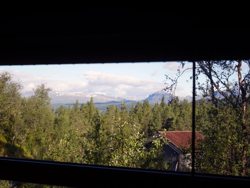 View from a log cabin in central Norway.