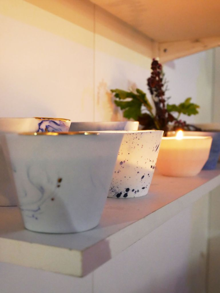 London Design Festival candles by Abalon. Shown at Design Junction.