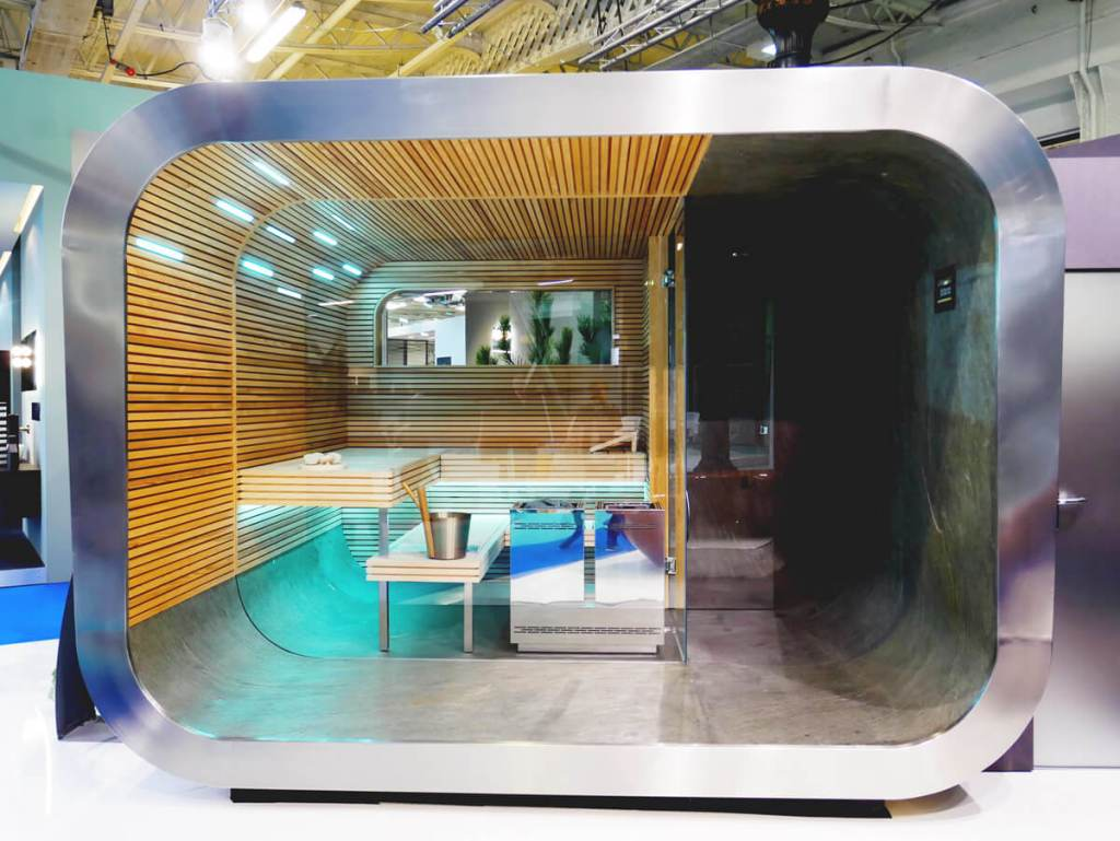 London Design Festival was again treated to Kung Sauna at 100% Design. They have just won the German design awards for this freestanding sauna.