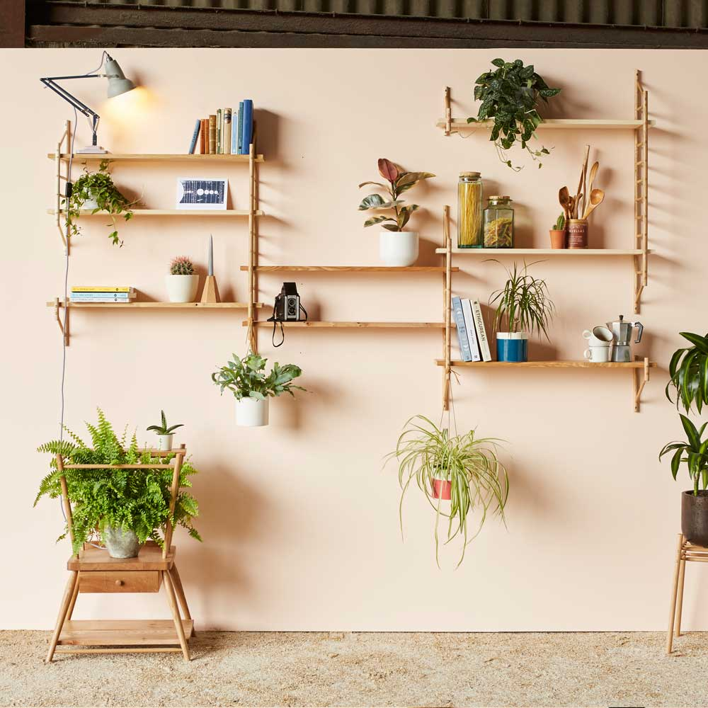 wooden shelving units - MIMA modular shelving sets