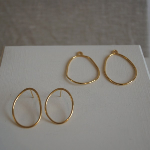 Magma earrings small gold separate, inspired by lava.