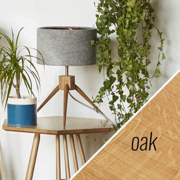 MIMA table lamp - oak - by John Eadon on chalkandmoss.com