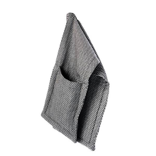 Create your ethical, Scandinavian style kitchen with these Danish oven gloves. Seen here in dark grey. Also available in neutral light grey pique and black canvas.