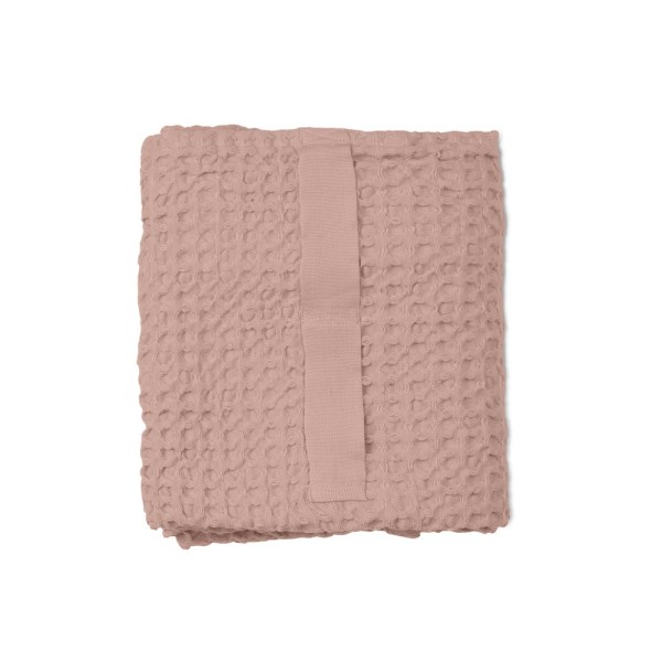 Waffle towels designed by The Organic Company. This soft and absorbent medium sized towel is available in a range of soft colours with a Scandinavian feel, including this pale pink.