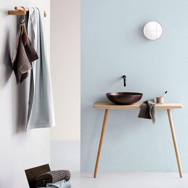Everyday organic towels by The Organic Company, in a choice of colours: dark grey, natural white, dark blue, sky, clay, pale rose