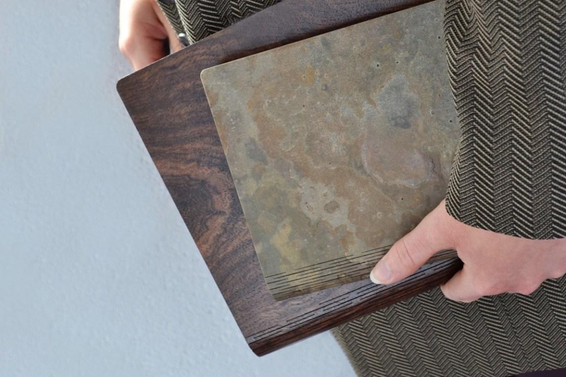 Bark & Rock - wood and stone notebooks.