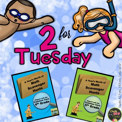 2 for Tuesday! (4th and 5th Grade Math Scavenger Hunts)