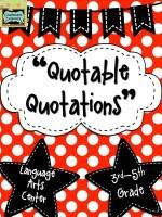 Quotable Quotations: Language Arts Center
