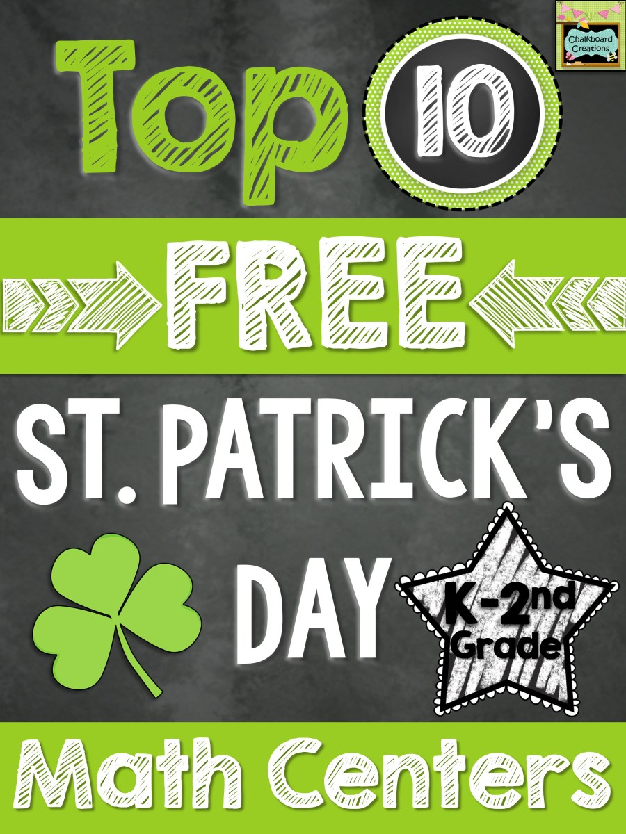 Top 10 FREE Math Centers for St. Patrick's Day (K-2nd)