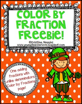 Fraction Color St. Patrick's Day