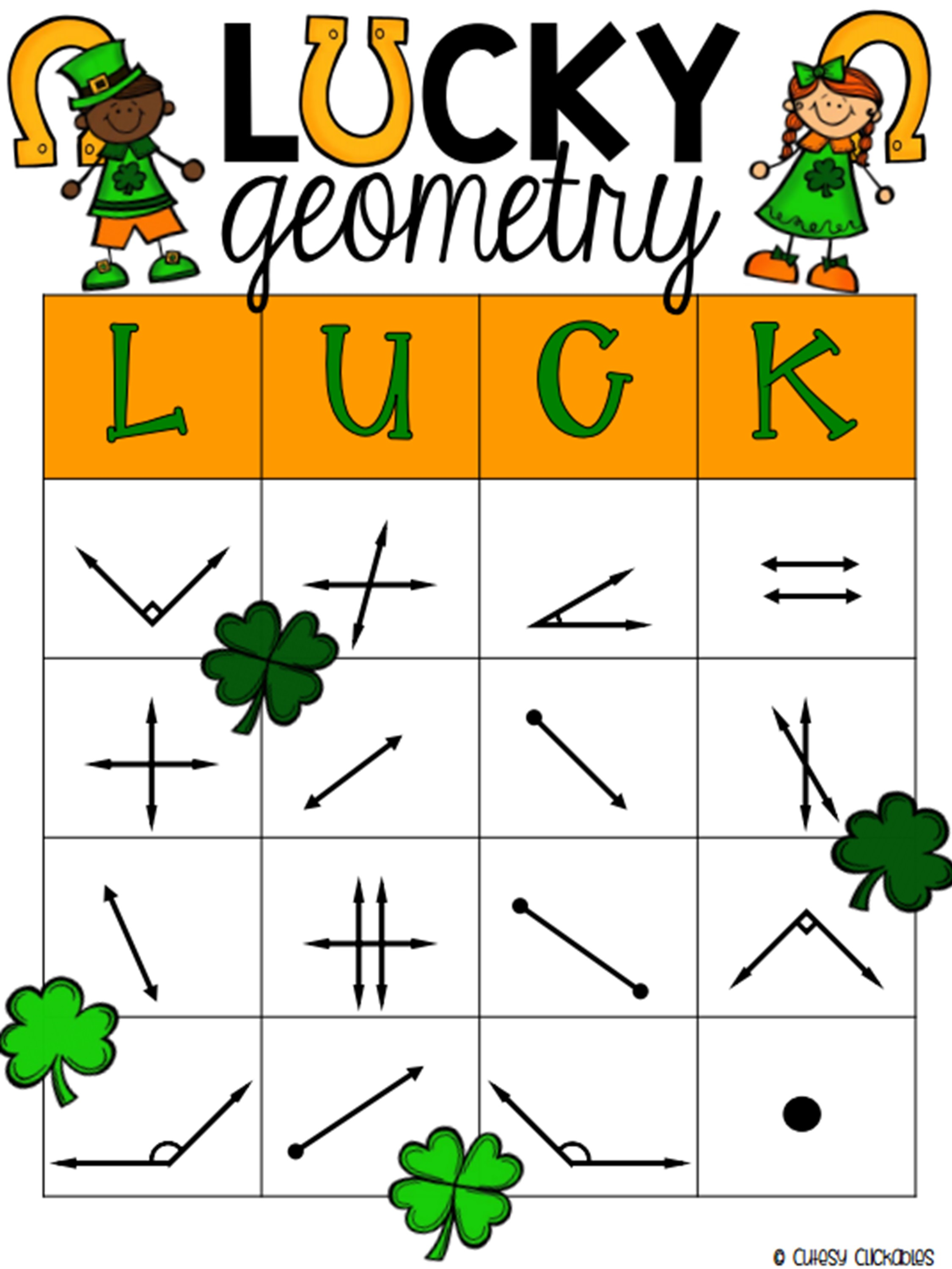Ten 10 Free Math Centers For St Patrick S Day 3rd 5th