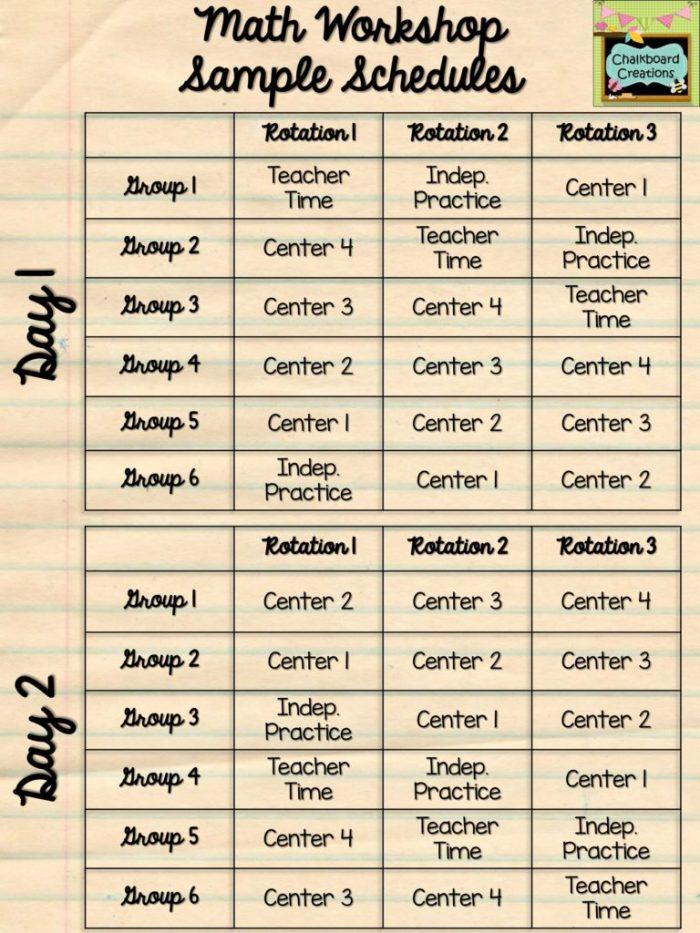 3 Ways to Make Math Workshop Fit Your Schedule 4