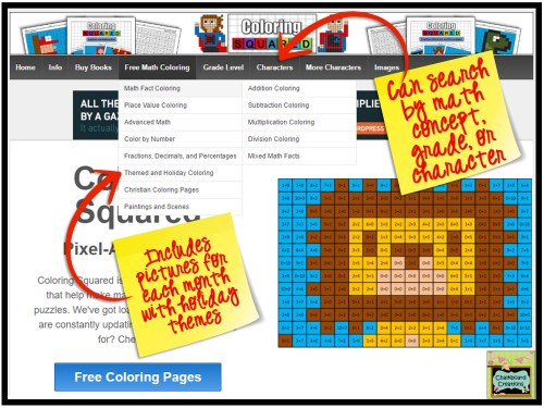 Coloring Squared Differentiate Websites