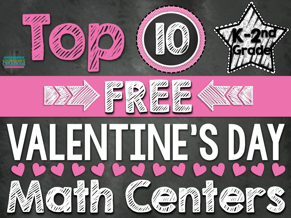 medium resolution of Top 10 FREE Math Centers for Valentine's Day (K-2nd Grade)