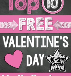 Top 10 FREE Math Centers for Valentine's Day (K-2nd Grade) [ 3000 x 2250 Pixel ]