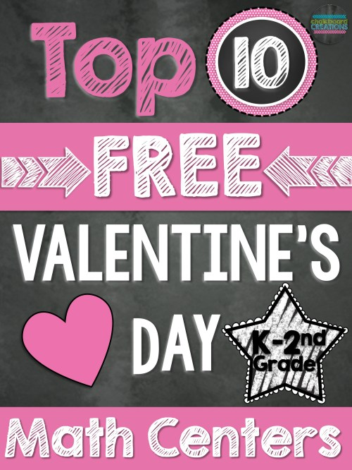 small resolution of Top 10 FREE Math Centers for Valentine's Day (K-2nd Grade)