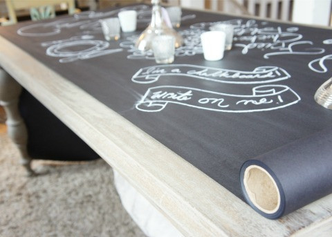 make cheap chalkboard table