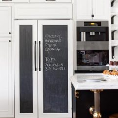 Cheap Stainless Steel Kitchen Appliances Kids Table Diy Chalkboard Refrigerator Panels.... Made Easy