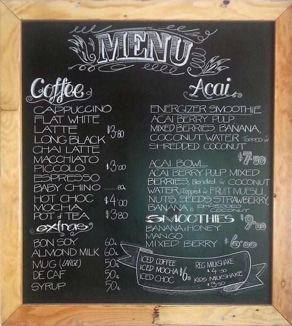Cafe Chalkboard Menu Signs