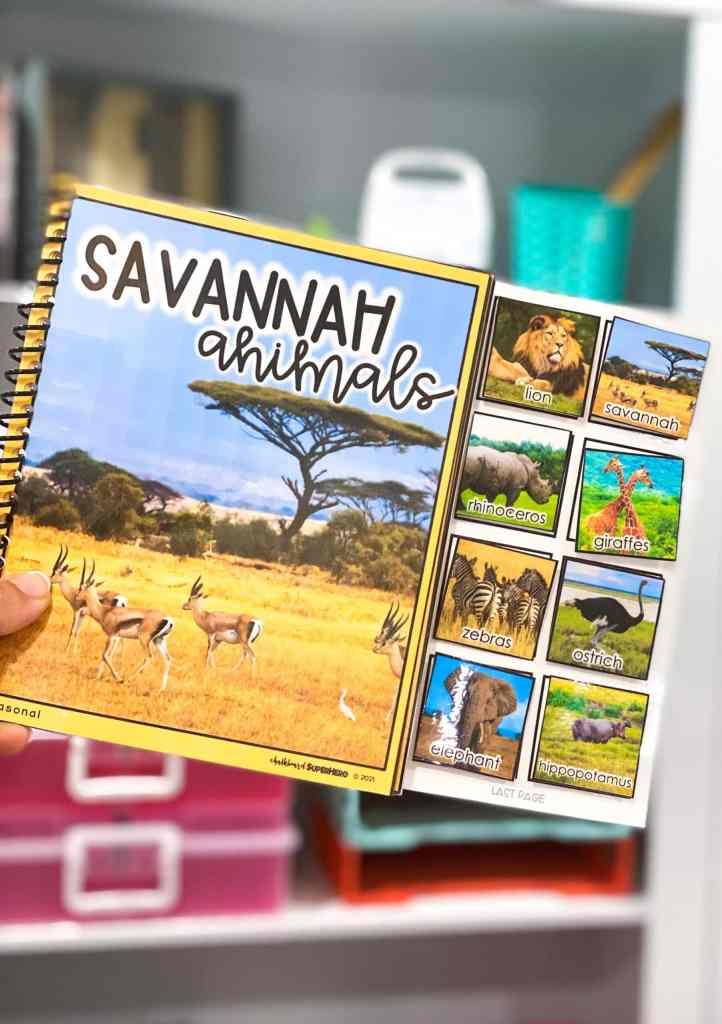 Free adapted book Savannah Animals
