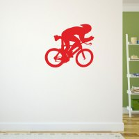 Tri Cyclist Removable ChalkTalkGraphix Wall Decal ...