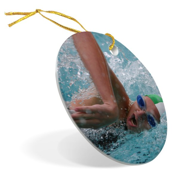 Swimming Porcelain Ornament Custom Swim
