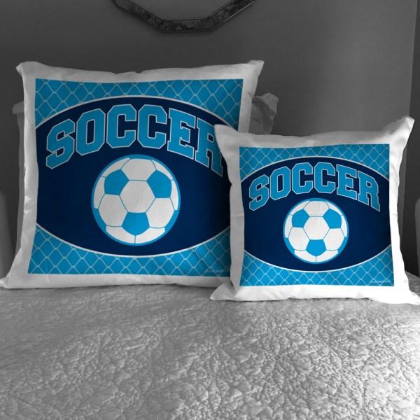 Soccer Throw Pillow Ball Chalktalksports