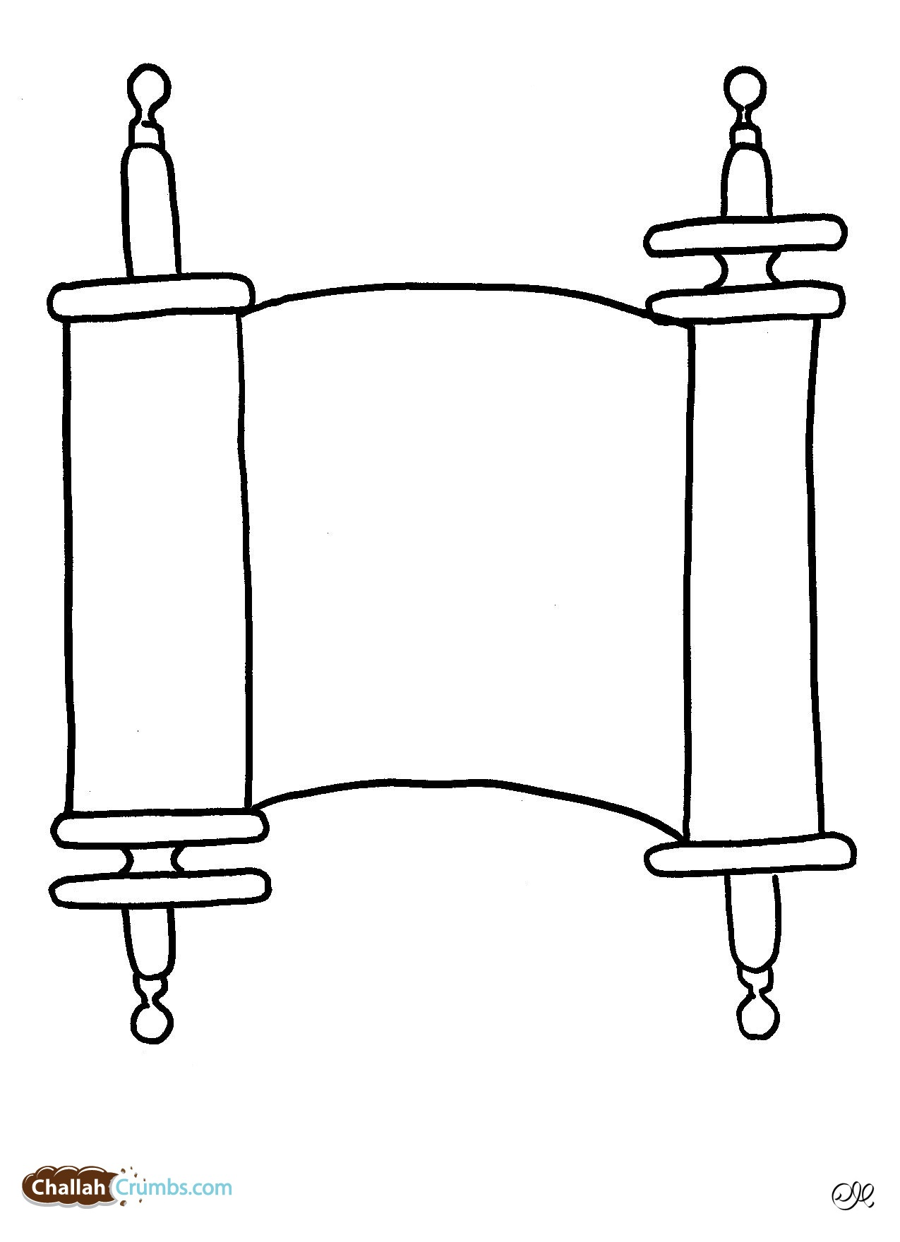 Scroll Writing On A Coloring Page Coloring Pages