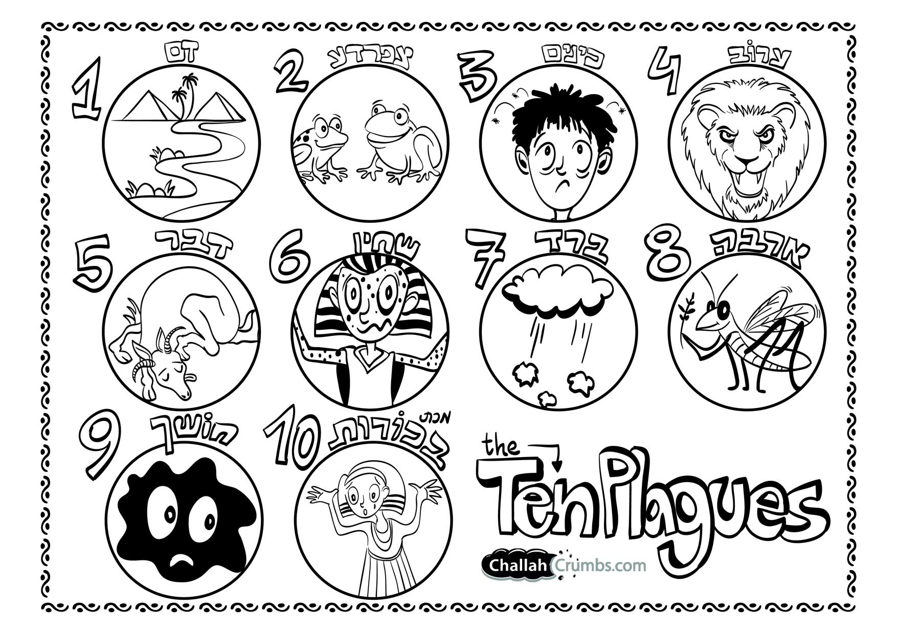 10 Plagues Clipart
