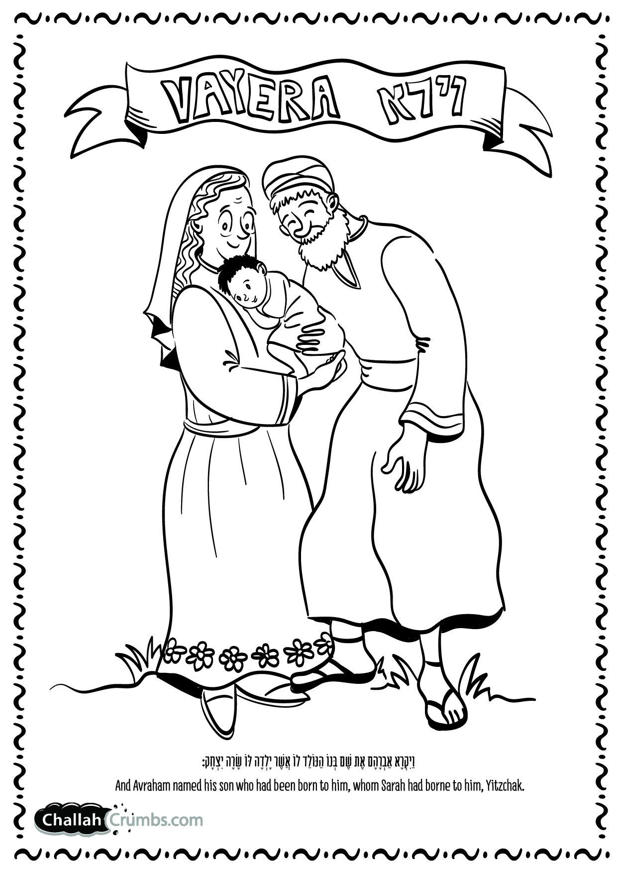 Free coloring pages of abraham hagar ishmael
