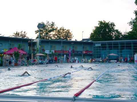 sparkasse s pool swimming for a good cause - datev challenge roth - we are