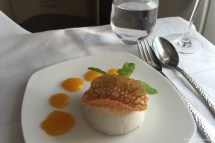 Coconut Panna Cotta with passionfruit coulis